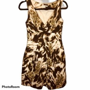 Banana Republic brown and cream sleeveless dress